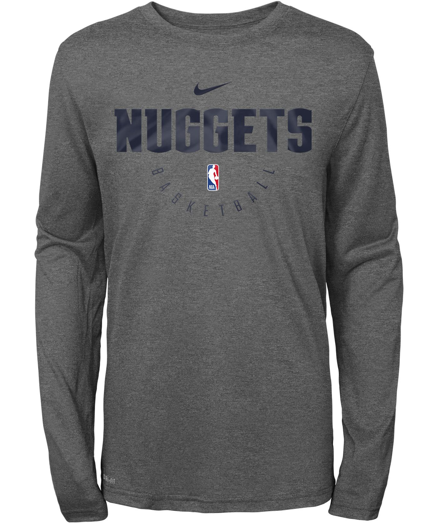 Nike Youth Denver Nuggets Dri-FIT Practice Long Sleeve Shirt