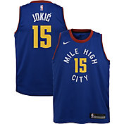 Nike Youth Denver Nuggets Nikola Jokic #15 Gold Dri-FIT Swingman Jersey