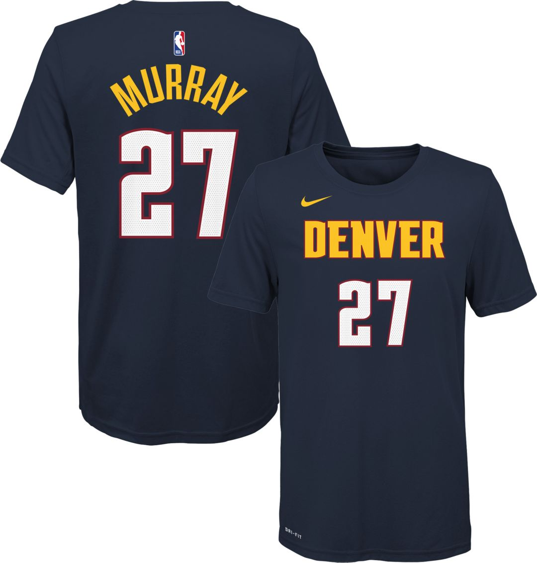 best sneakers eec1e ab95c Nike Youth Denver Nuggets Jamal Murray #27 Dri-FIT Navy T-Shirt