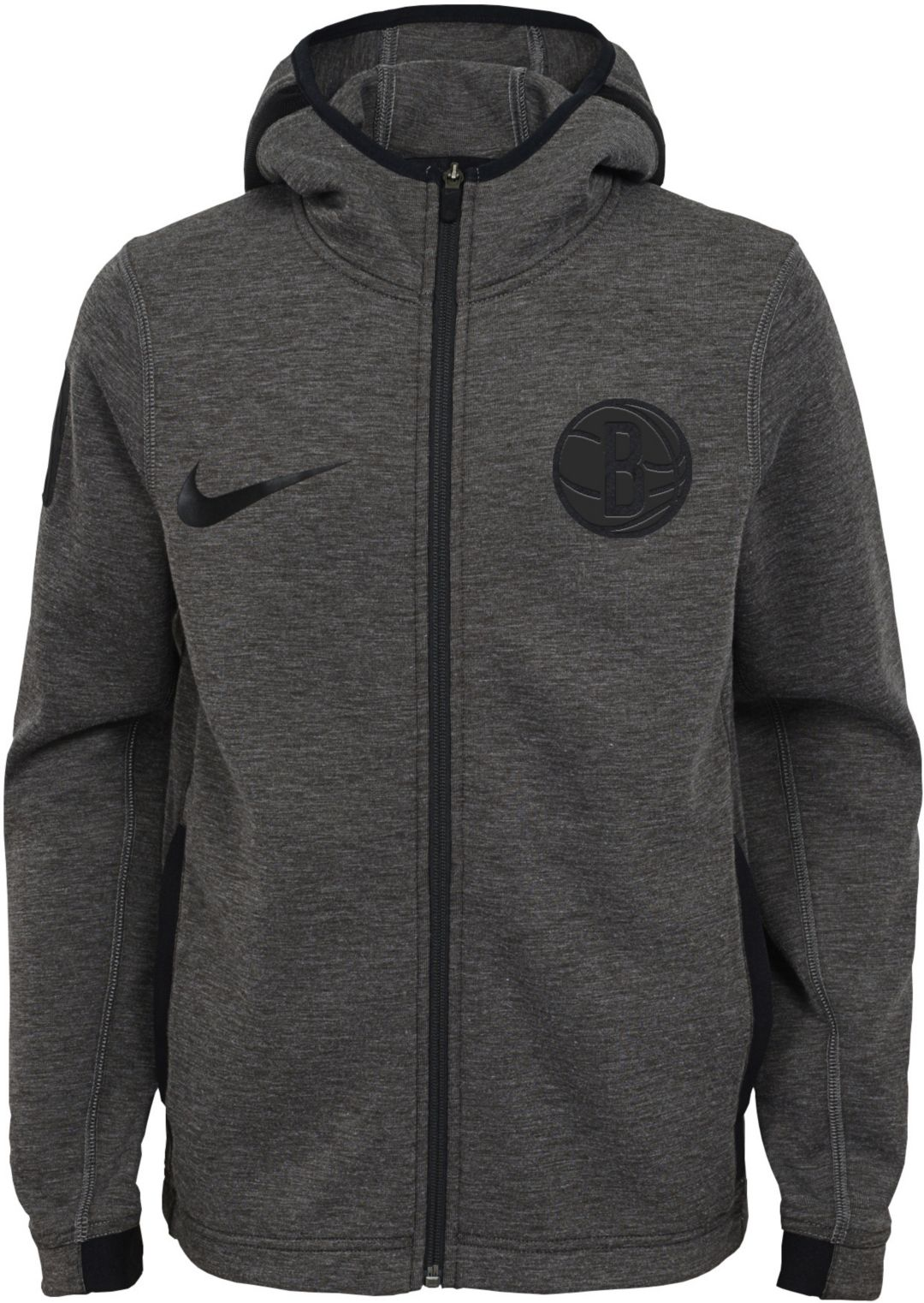 7cefa95f Nike Youth Brooklyn Nets On-Court Dri-FIT Showtime Full-Zip Hoodie ...