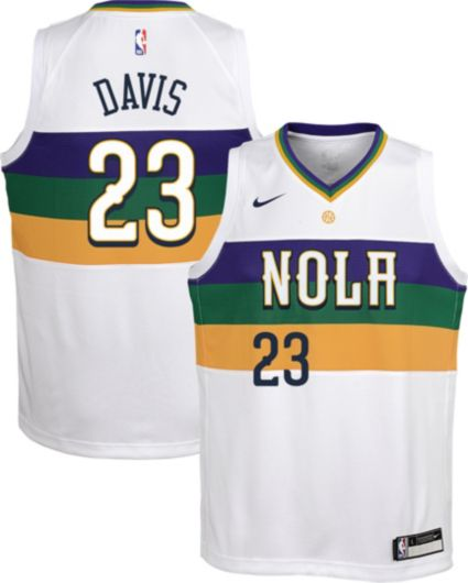 Nike Youth New Orleans Pelicans Anthony Davis Dri-FIT City Edition Swingman  Jersey. noImageFound 5e250b286