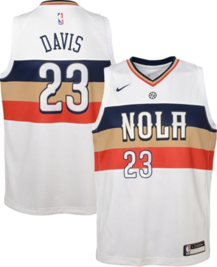 Nike Youth New Orleans Pelicans Anthony Davis Dri-FIT Earned Edition  Swingman Jersey 4d24e9f72