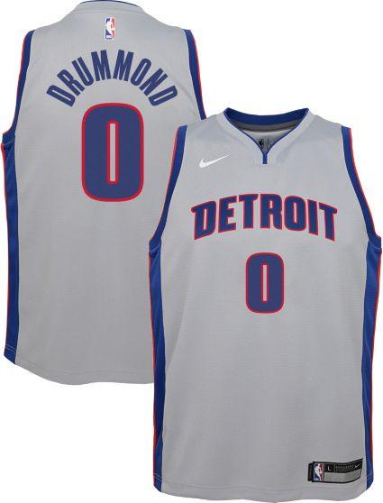 Nike Youth Detroit Pistons Andre Drummond  0 Grey Dri-FIT Swingman ... 3e71c89bbe33