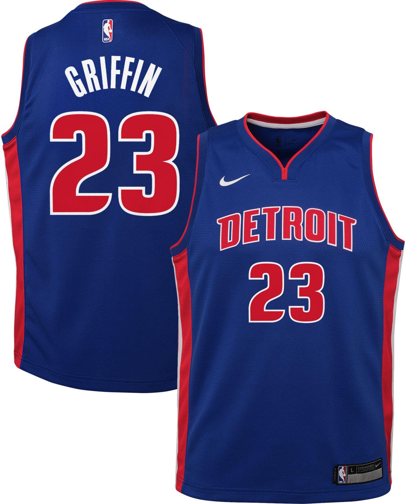 Nike Youth Detroit Pistons Blake Griffin #23 Royal Dri-FIT Swingman Jersey