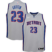Nike Youth Detroit Pistons Blake Griffin #23 Grey Dri-FIT Swingman Jersey