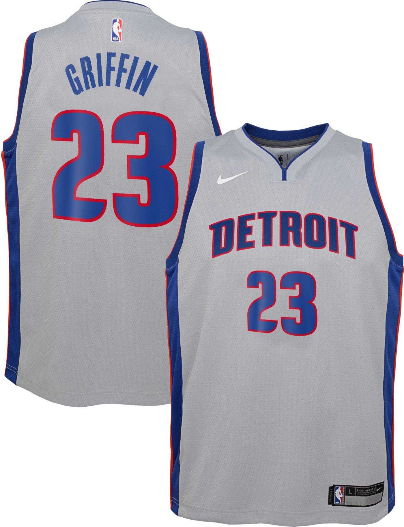 Nike Youth Detroit Pistons Blake Griffin #23 Grey Dri-FIT Statement Swingman Jersey