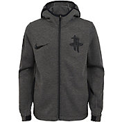 Nike Youth Houston Rockets On-Court Dri-FIT Showtime Full-Zip Hoodie