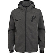Nike Youth San Antonio Spurs On-Court Dri-FIT Showtime Full-Zip Hoodie