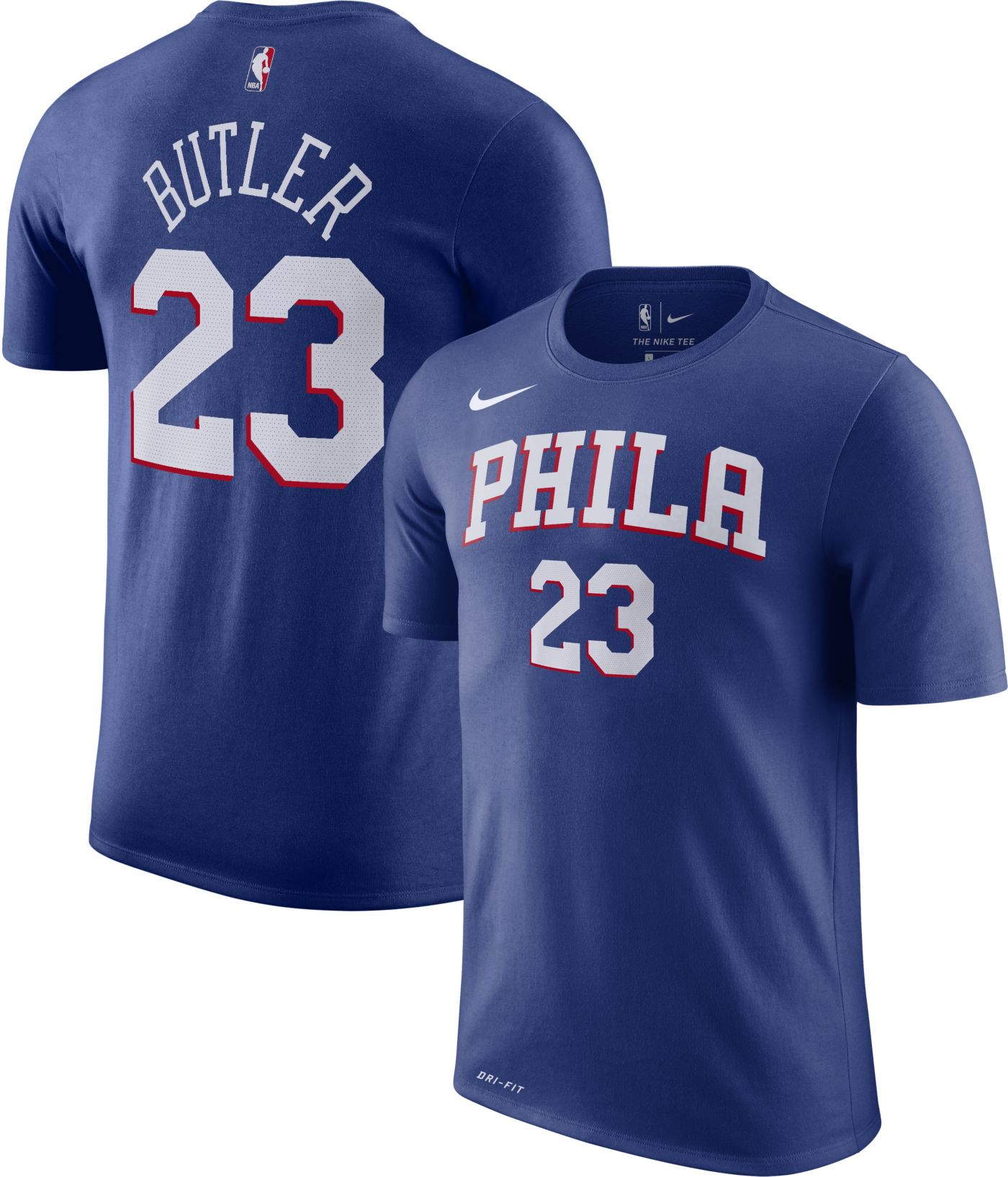 Nike Youth Philadelphia 76ers Jimmy Butler #23 Dri-FIT Royal T-Shirt
