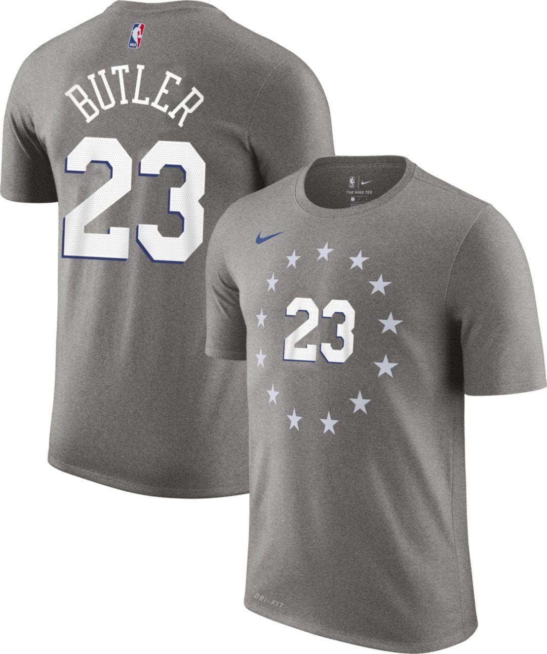 a20b888c Nike Youth Philadelphia 76ers Jimmy Butler Dri-FIT City Edition T-Shirt 1