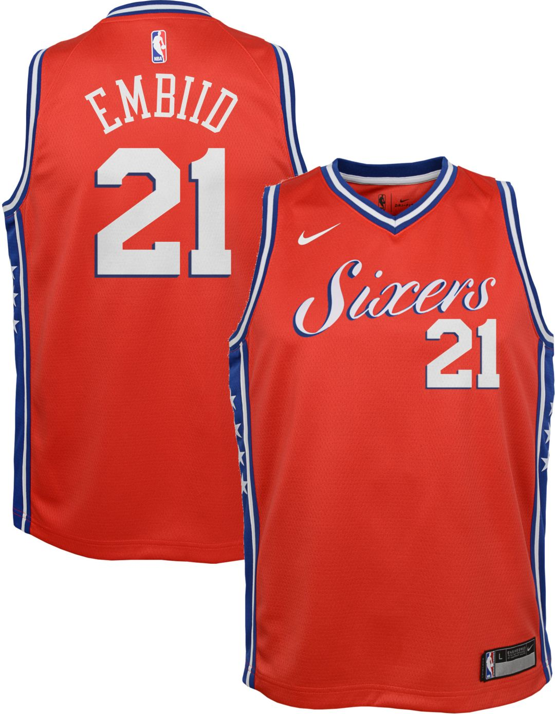 best value ed488 f8b88 Nike Youth Philadelphia 76ers Joel Embiid Dri-FIT City Edition Swingman  Jersey