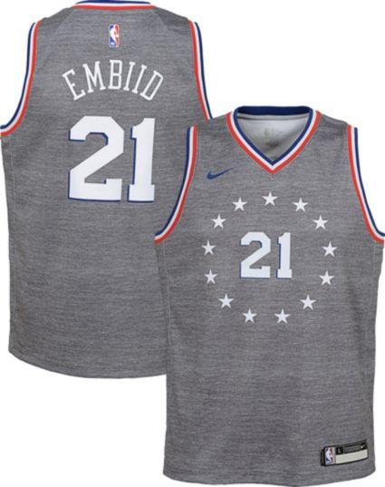 6c7374654 Nike Youth Philadelphia 76ers Joel Embiid Dri-FIT City Edition Swingman  Jersey. noImageFound