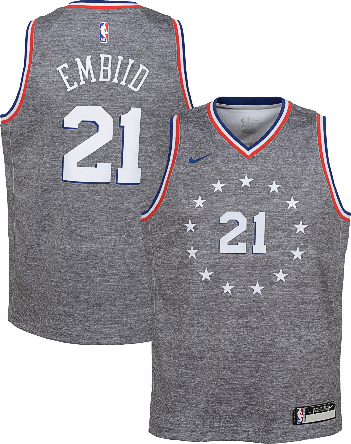 Nike Youth Philadelphia 76ers Joel Embiid Dri-FIT City Edition Swingman Jersey