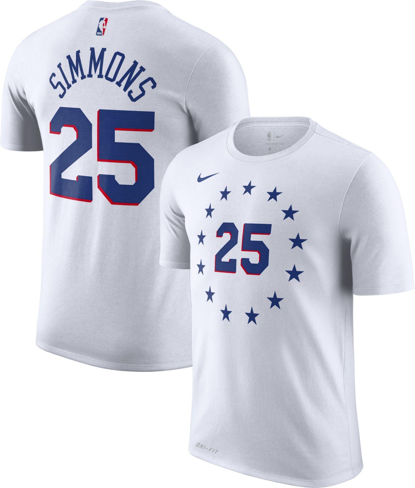 Nike Youth Philadelphia 76ers Ben Simmons Dri-FIT Earned Edition T-Shirt