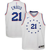 Nike Youth Philadelphia 76ers Joel Embiid Dri-FIT Earned Edition Swingman Jersey