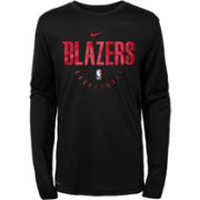Nike Youth Portland Trail Blazers Dri-FIT Practice Long Sleeve Shirt