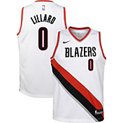 Nike Youth Portland Trail Blazers Damian Lillard #0 White Dri-FIT Swingman Jersey
