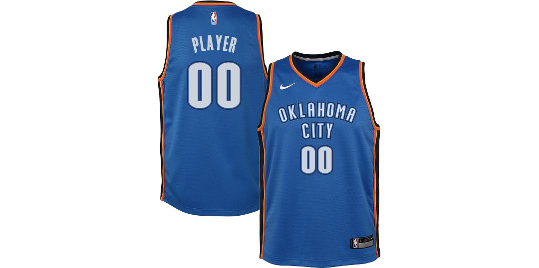 huge discount 70b5a 62691 Nike Youth Full Roster Oklahoma City Thunder Blue Dri-FIT Swingman Jersey