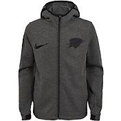 Nike Youth Oklahoma City Thunder On-Court Dri-FIT Showtime Full-Zip Hoodie