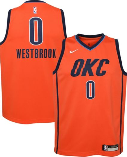 02bedb607 Nike Youth Oklahoma City Thunder Russell Westbrook Dri-FIT Earned Edition  Swingman Jersey. noImageFound