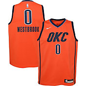 Nike Youth Oklahoma City Thunder Russell Westbrook Dri-FIT Earned Edition Swingman Jersey