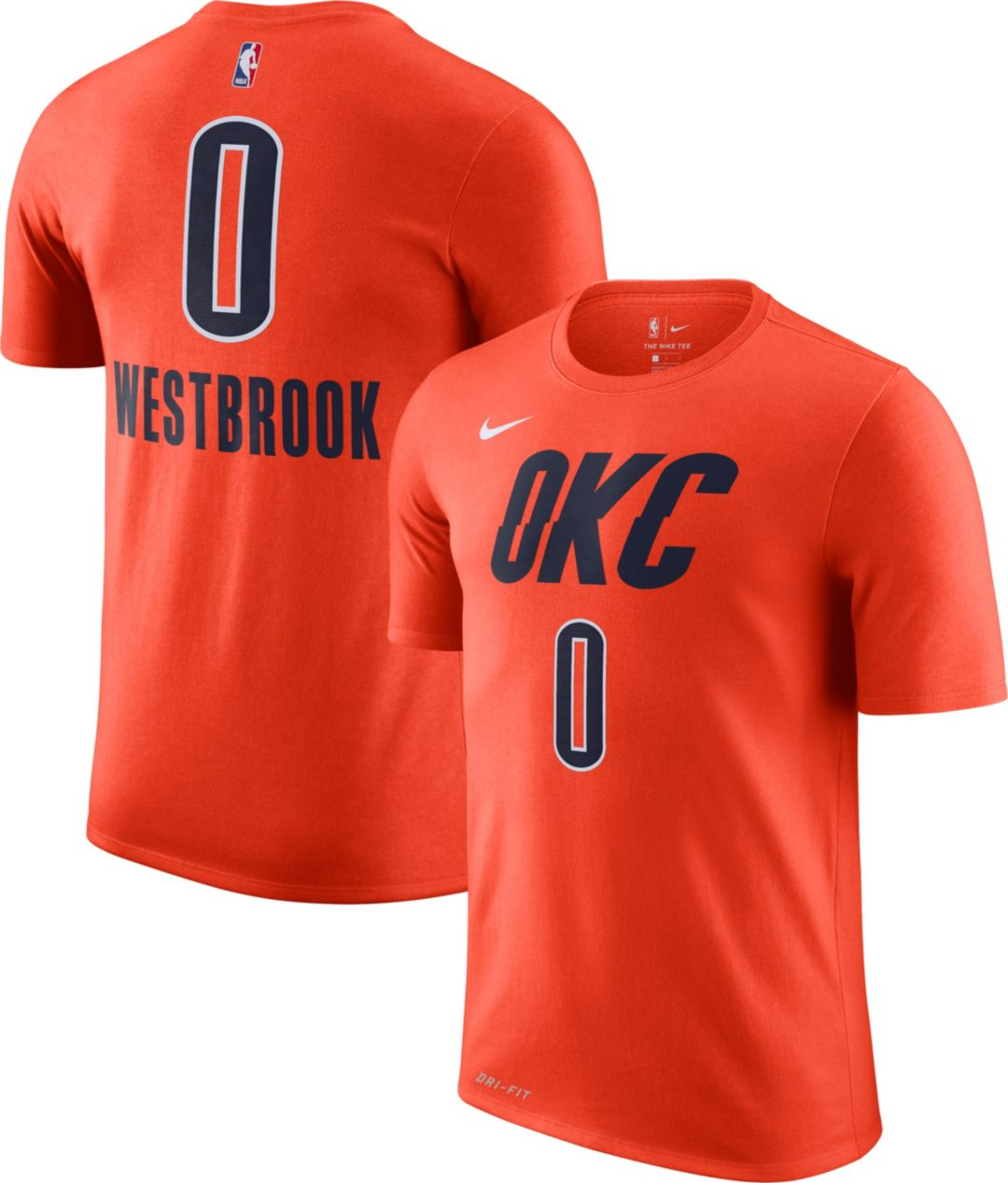 pretty nice 73a55 e5b63 Nike Youth Oklahoma City Thunder Russell Westbrook Dri-FIT Earned Edition  T-Shirt