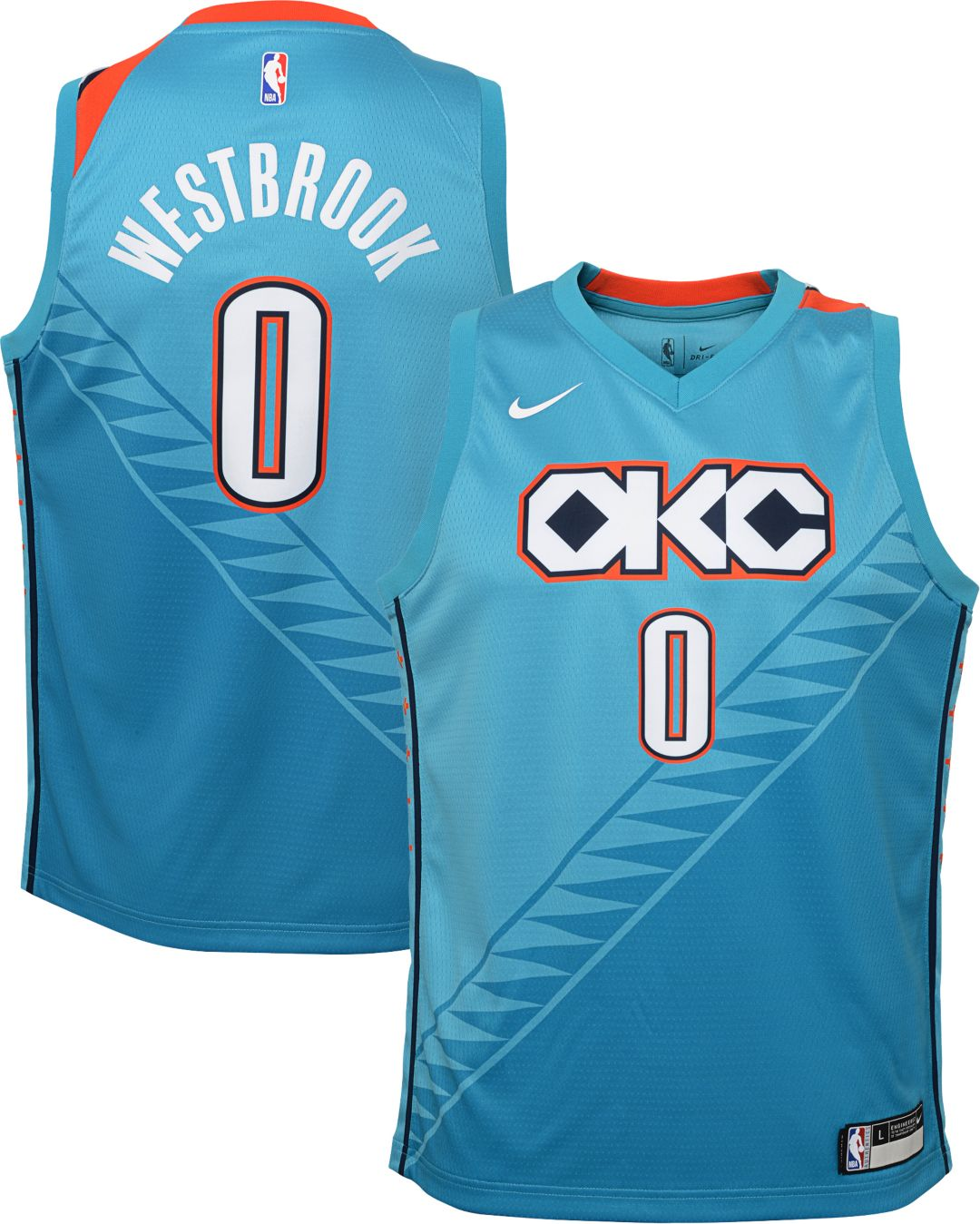best website 43a8e 7b824 Nike Youth Oklahoma City Thunder Russell Westbrook Dri-FIT City Edition  Swingman Jersey