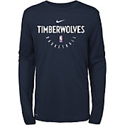 Nike Youth Minnesota Timberwolves Dri-FIT Practice Long Sleeve Shirt