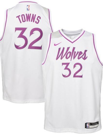 Nike Youth Minnesota Timberwolves Karl-Anthony Towns Dri-FIT Earned Edition  Swingman Jersey. noImageFound c19e480e2