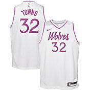 Nike Youth Minnesota Timberwolves Karl-Anthony Towns Dri-FIT Earned Edition Swingman Jersey