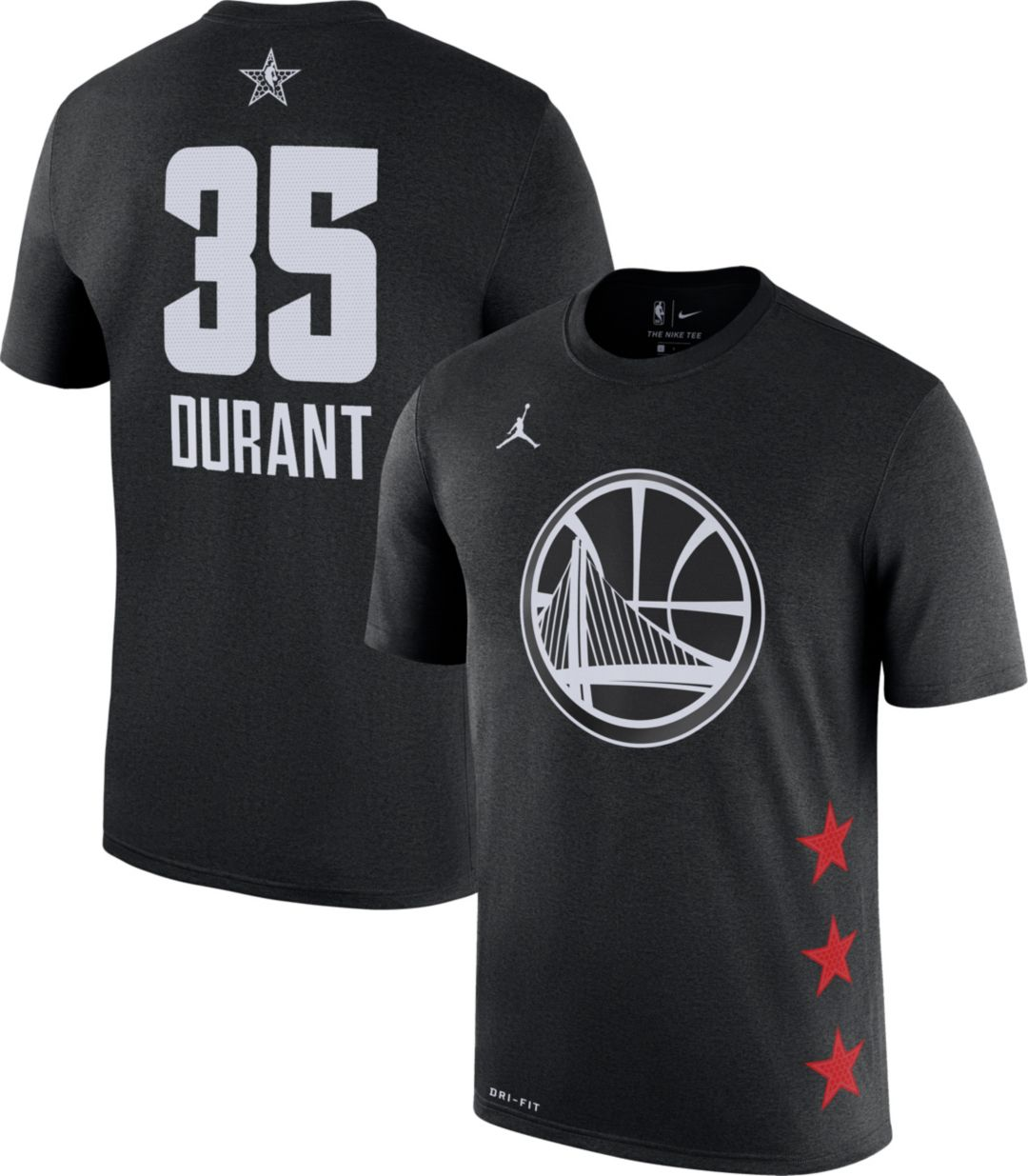d7383b9a135 Jordan Youth 2019 NBA All-Star Game Kevin Durant Dri-FIT Black T ...