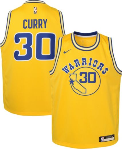 Nike Youth Golden State Warriors Steph Curry Dri-FIT Hardwood Classic  Swingman Jersey. noImageFound 7cd08a87f