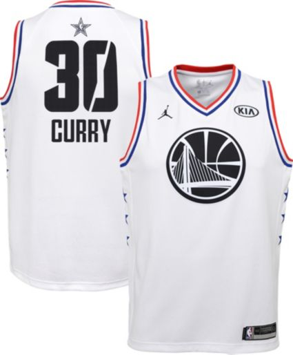 Jordan Youth 2019 Nba All Star Game Steph Curry White Dri Fit