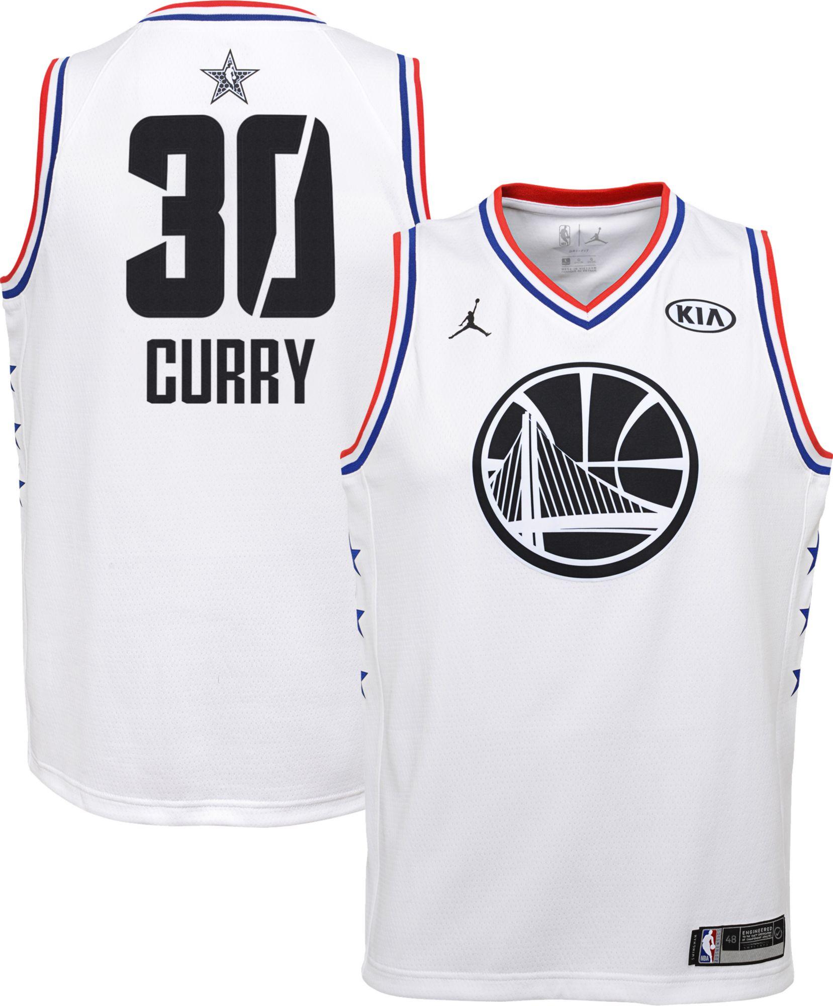 Jordan Youth 2019 NBA All-Star Game Steph Curry White Dri-FIT Swingman  Jersey e9b225e9c