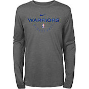 Nike Youth Golden State Warriors Dri-FIT Practice Long Sleeve Shirt