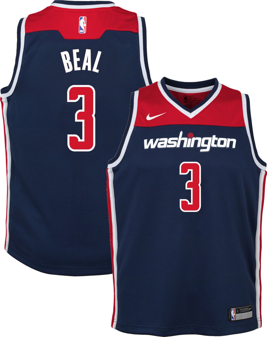 meet 5a2f7 9911d Nike Youth Washington Wizards Bradley Beal #3 Navy Dri-FIT Swingman Jersey