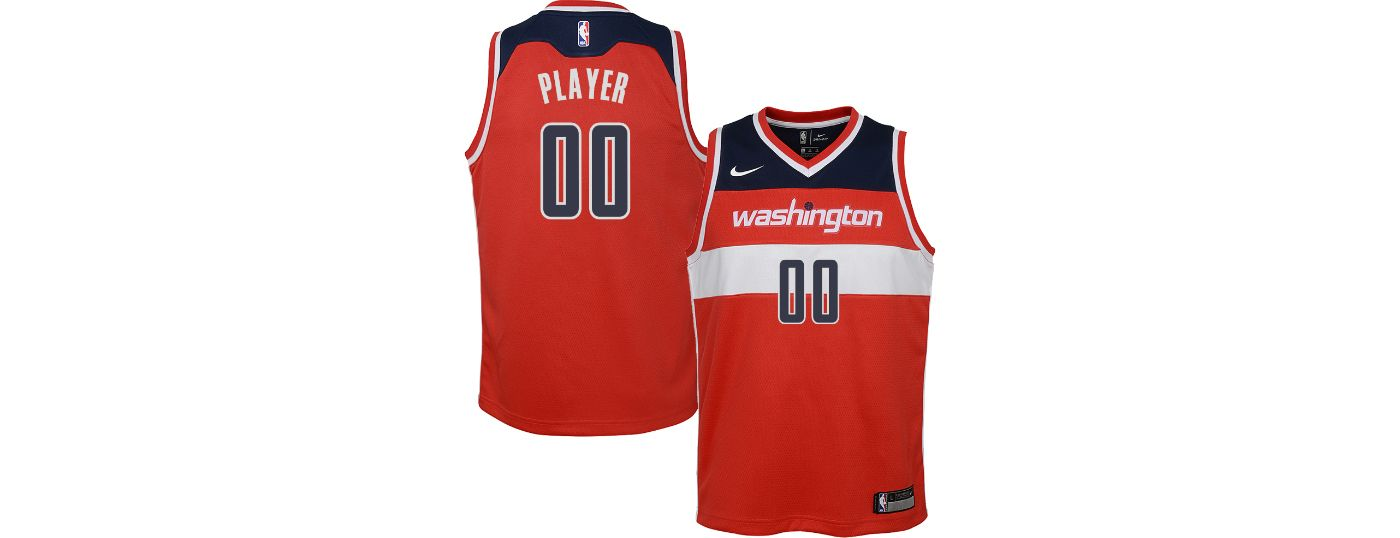 Nike Youth Full Roster Washington Wizards Red Dri-FIT Swingman Jersey