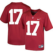 Nike Boys' Alabama Crimson Tide #17 Crimson Game Football Jersey
