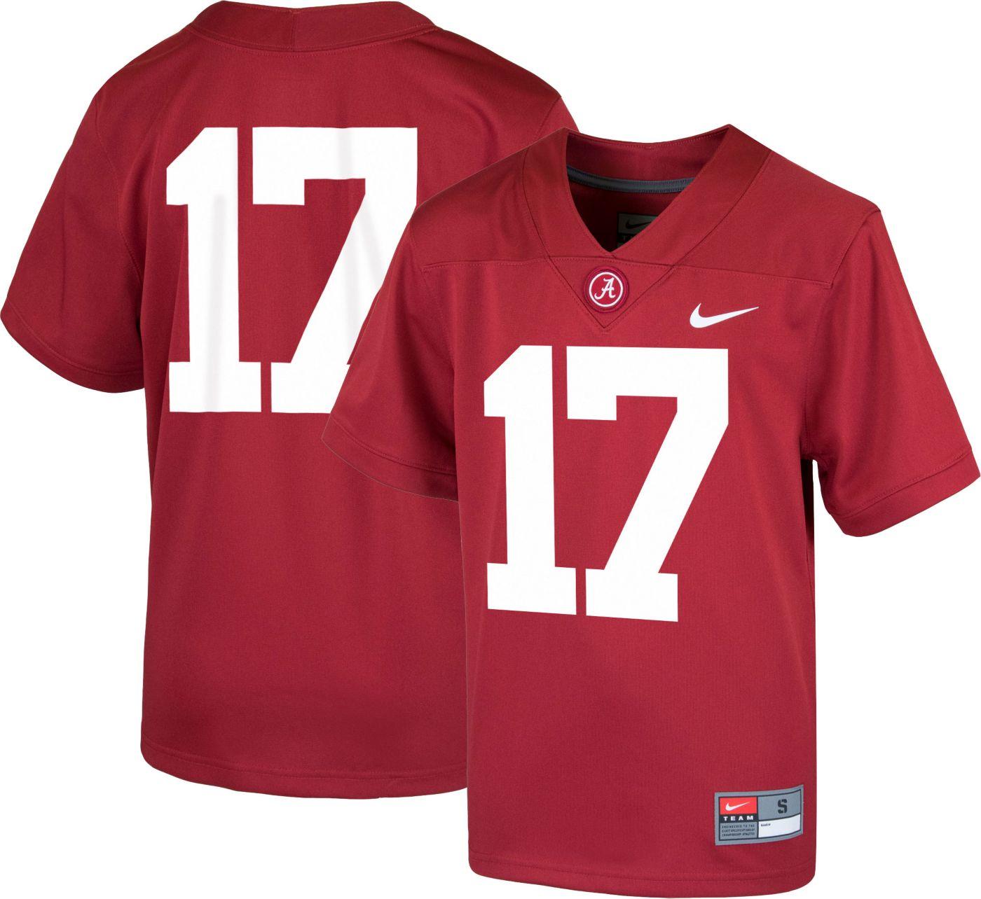 Nike Youth Alabama Crimson Tide #17 Crimson Game Football Jersey