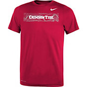 Nike Youth Alabama Crimson Tide Crimson Football Sideline Legend T-Shirt