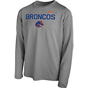 Nike Youth Boise State Broncos Grey Legend Core Long Sleeve Shirt