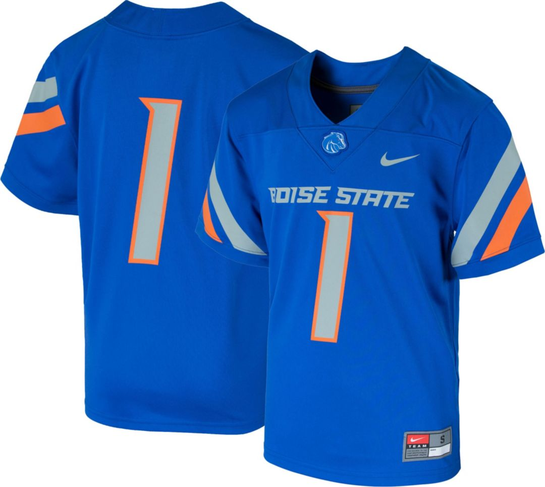 best website 01bc1 3ae35 Nike Youth Boise State Broncos #1 Blue Game Football Jersey