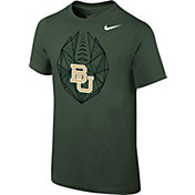 Nike Youth Baylor Bears Green Football Icon T-Shirt