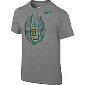 Nike Boys' Baylor Bears Grey Football Icon T-Shirt