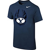 Nike Youth BYU Cougars Blue Football Icon T-Shirt