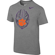 Nike Boys' Clemson Tigers Grey Football Icon T-Shirt