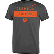 Nike Youth Clemson Tigers Grey Dri-FIT Legend Lift Football T-Shirt