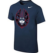 Nike Youth UConn Huskies Blue Football Icon T-Shirt