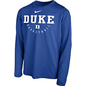 Nike Youth Duke Blue Devils Duke Blue Legend Basketball Long Sleeve Tee