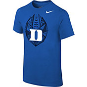 Nike Youth Duke Blue Devils Duke Blue Football Icon T-Shirt